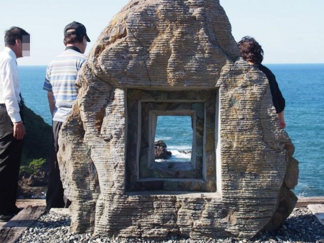 聖域の岬(珠洲岬)の額縁っぽいもの