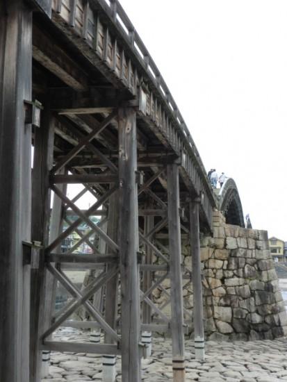錦帯橋下から