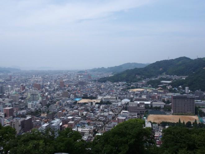 松山城からの景色