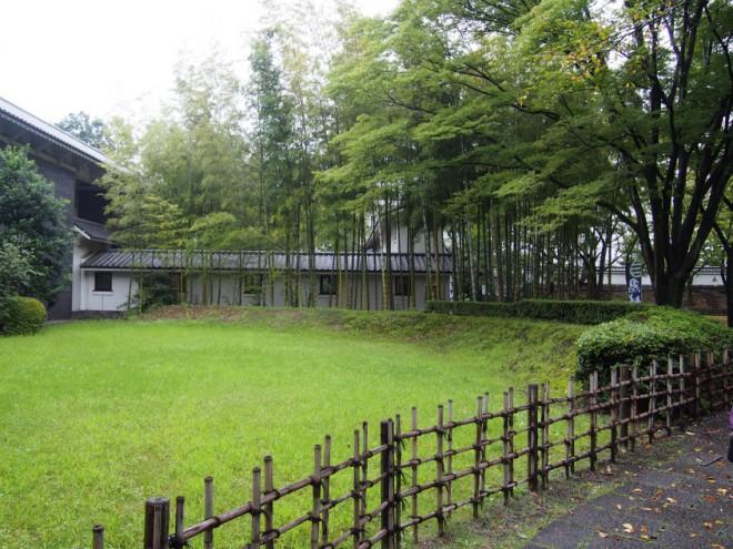 忍城の竹林
