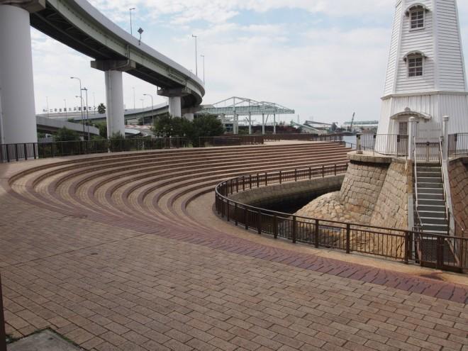 旧堺燈台から大浜公園への道