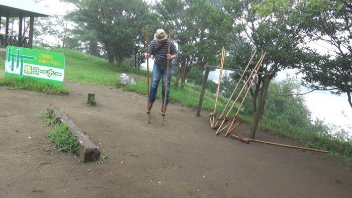 マザー牧場 竹馬コーナー